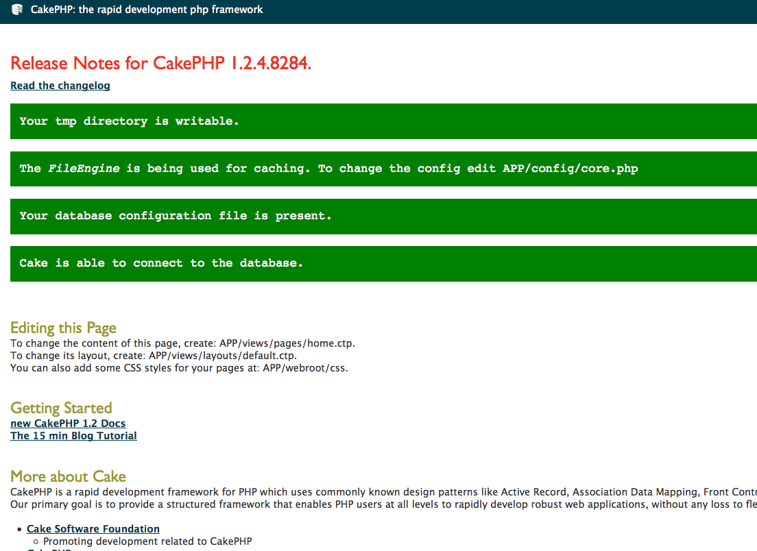 installation cakephp php