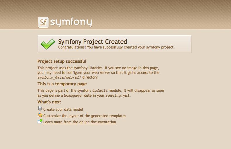 symfony fonctionnel